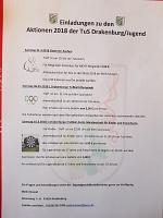Aktionen der TuS Jugend 2018