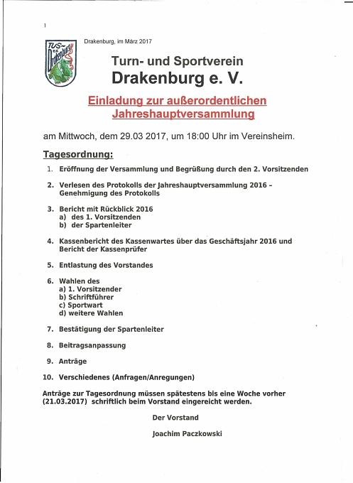 Jhv 2017 nachholtermin©TuS Drakenburg