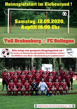 Plakat Heimspiel FC Sulingen©RF