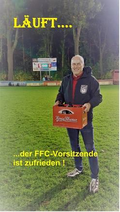 Der 1. Vorsitzende des FFC ist sehr zufrieden