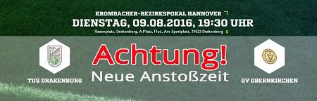 Spielverlegung TUS : Obernkirchen
