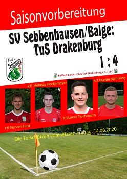Testspiel gg Sebbenhausen am 14.08.2020