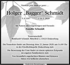 Der TuS trauert um Holger Schmidt©/RF