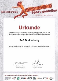 Urkunde©TuS Drakenburg